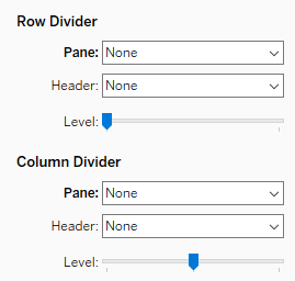 No Row or Column dividers
