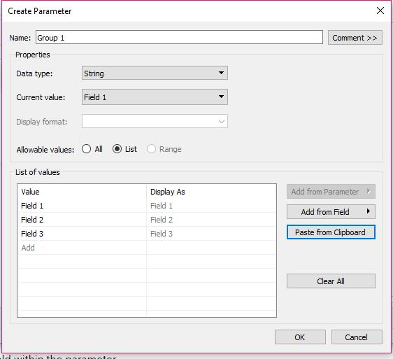 1-Create Parameter